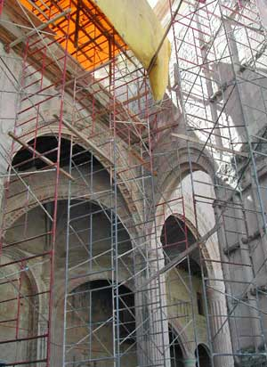 Scaffolding and arches