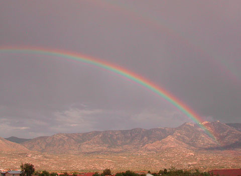 Rainbow near Tucson, Arizona