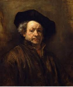 Self portrait, Rembrandt van Rijn