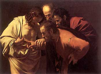 Caravaggio, Thomas and the Risen Christ
