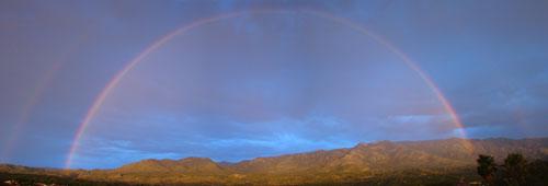 Double rainbow over the Santa Catalinas, near Tucson, Arizona